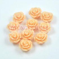 Műanyag alul fúrt rózsa gyöngy - Peach - 10mm