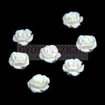 Műanyag alul fúrt rózsa gyöngy - White - 10mm