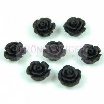 Műanyag alul fúrt rózsa gyöngy - Black - 10mm
