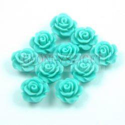 Műanyag alul fúrt rózsa gyöngy - Green - 10mm