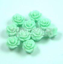 Műanyag alul fúrt rózsa gyöngy - Light Green - 10mm
