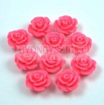 Műanyag alul fúrt rózsa gyöngy - Rose- 10mm