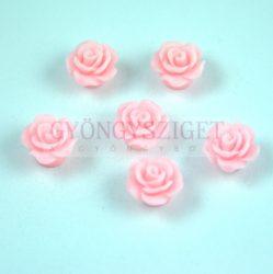 Műanyag alul fúrt rózsa gyöngy - Pink - 10mm