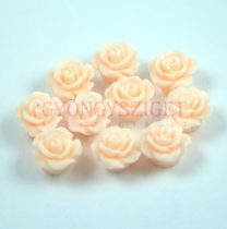 Plastic rose bead - Light Peach - 10mm