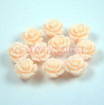 Műanyag alul fúrt rózsa gyöngy - Light Peach - 10mm