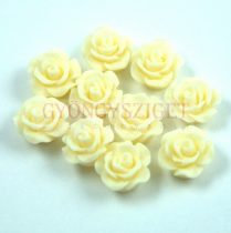 Plastic rose bead - Vanilla - 10mm