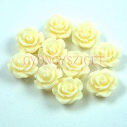 Műanyag alul fúrt rózsa gyöngy - Vanilia - 10mm