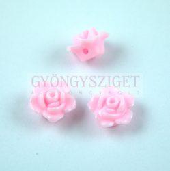 Műanyag alul fúrt rózsa gyöngy - Inocent Pink - 12 x 7.5 mm