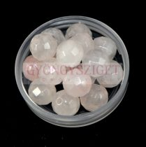 Rózsakvarc gyöngy - 6mm - csiszolt