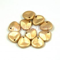 Préselt rózsaszirom gyöngy - Rose Petal -  aztec gold -8x7mm