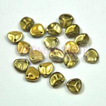 Préselt rózsaszirom gyöngy - Rose Petal -  crystal half amber -8x7mm