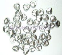 Préselt rózsaszirom gyöngy - Rose Petal -  ezüst - 8x7mm