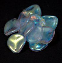 Rose petal gyöngy - kristály ab - 14x13mm