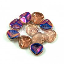 Préselt rózsaszirom gyöngy - Rose Petal -  crystal sliperit -8x7mm