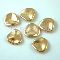 Rose petal gyöngy - Aztec Gold - 14x13mm