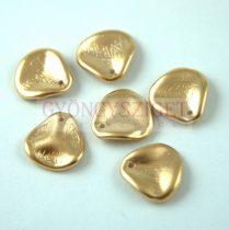 Rose Petal - Czech Glass Bead - Aztec Gold - 14x13mm