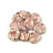 Préselt rózsaszirom gyöngy - Rose Petal -  alabaster rose terracotta -8x7mm
