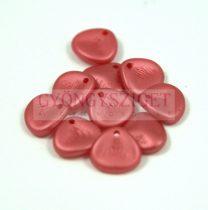 Préselt rózsaszirom gyöngy - Rose Petal -  pastel red -8x7mm