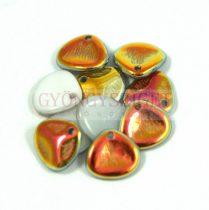 Préselt rózsaszirom gyöngy - Rose Petal -  alabaster sliperit -8x7mm