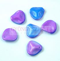 Rose petal gyöngy - Funky Blue - 14x13mm