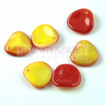 Rose petal gyöngy - Funky Apple - 14x13mm