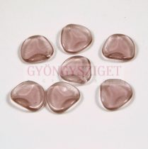 Rose petal gyöngy - light amethyst - 14x13mm