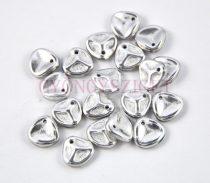 Préselt rózsaszirom gyöngy - Rose Petal - Silver - 8x7mm - 100db