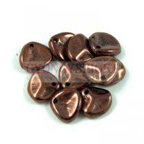 Préselt rózsaszirom gyöngy - Rose Petal -  dark bronze -8x7mm