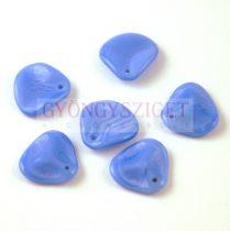 Rose petal gyöngy - Light Sapphire - 14x13mm