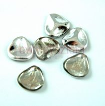 Rose petal gyöngy - Black Diamond Labrador - 14x13mm