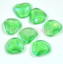 Rose Petal - Czech Glass Bead - Czech Glass Bead - light olivin iris - 14x13mm
