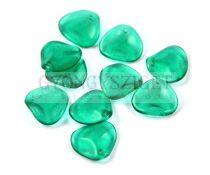 Rose Petal - Czech Glass Bead - Czech Glass Bead gyöngy - emerald - 14x13mm