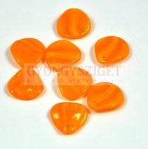 Rose petal gyöngy - világos narancs - 14x13mm