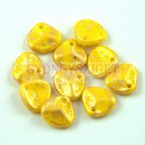 Préselt rózsaszirom gyöngy - Rose Petal - Jonquil Gold Patina - 8x7mm