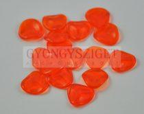 Rose petal gyöngy - transzparens narancs - 14x13mm