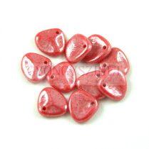 Préselt rózsaszirom gyöngy - Rose Petal - Red Coral Luster - 8x7mm