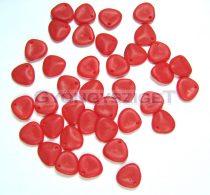 Préselt rózsaszirom gyöngy - Rose Petal -  matt telt piros -8x7mm