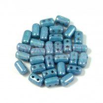 Rulla gyöngy-3x5mm - fehér szürke márvány
