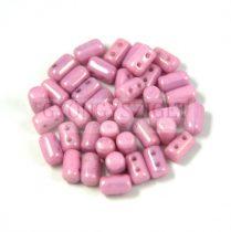 Rulla gyöngy-3x5mm - fehér rózsaszín lüszter