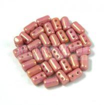 Rulla gyöngy-3x5mm -telt rózsa- bronz lüszter
