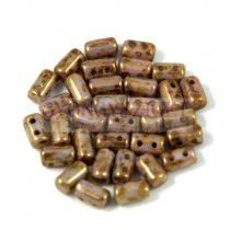 Rulla bead 3x5mm brown bronze luster
