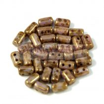 Rulla bead 3x5mm brown bronze luster
