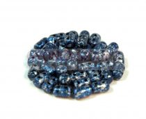 Rulla bead 3x5mm - tweedy blue