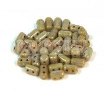 Rulla gyöngy-3x5mm - szürke picasso
