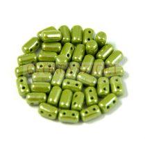 Rulla gyöngy-3x5mm - lüszteres telt oliva