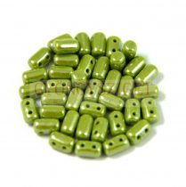 Rulla bead 3x5mm opaque olive luster