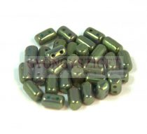 Rulla bead  3x5mm  turquoise green rose luster