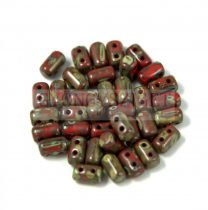 Rulla bead 3x5mm dark red traventin