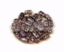 Rulla gyöngy - 3x5mm - Tweedy Purple