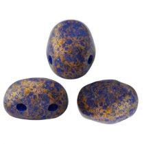 Samos® par Puca®gyöngy - Opaque Sapphire Bronze - 5x7 mm